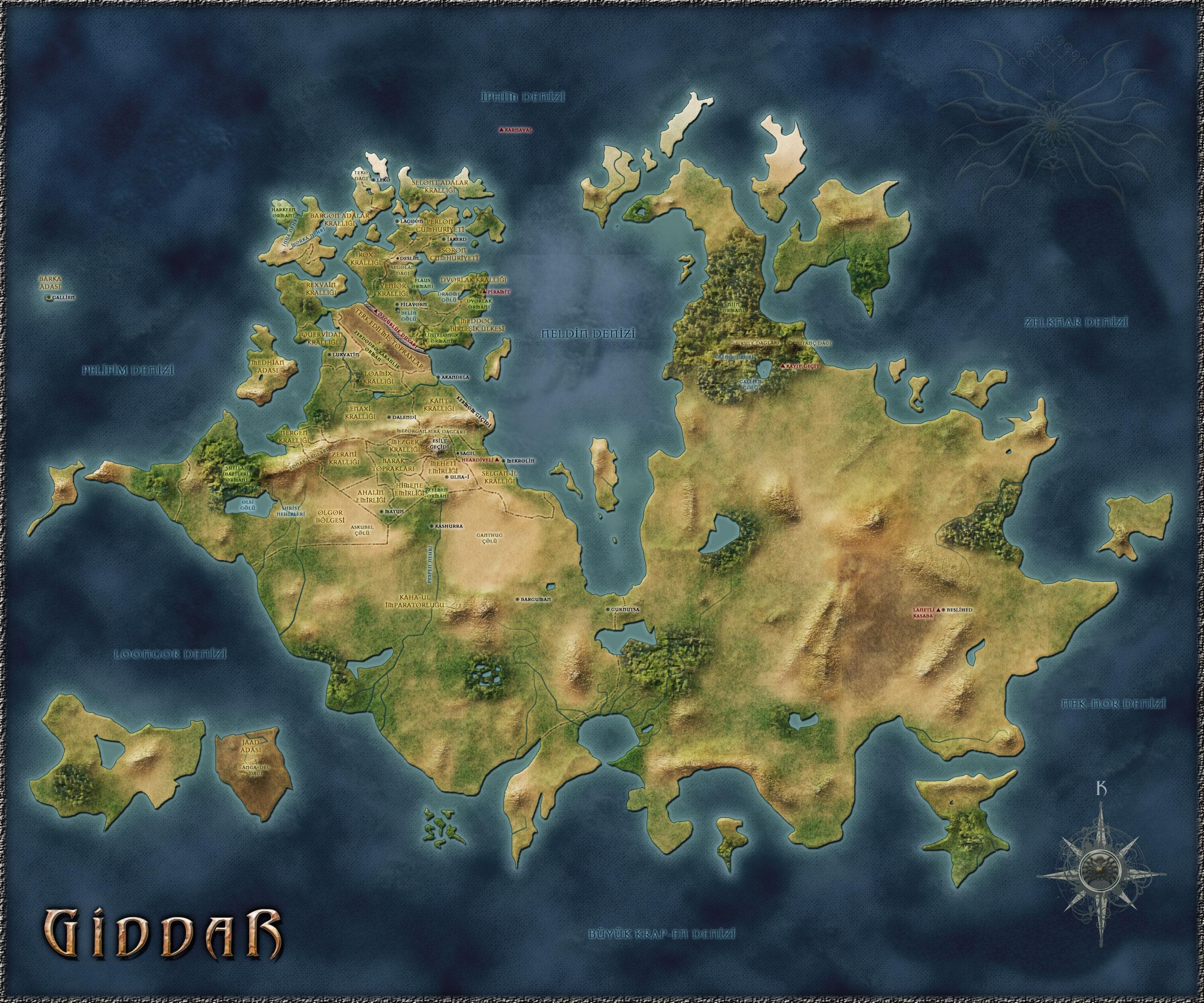 Giddar Haritası