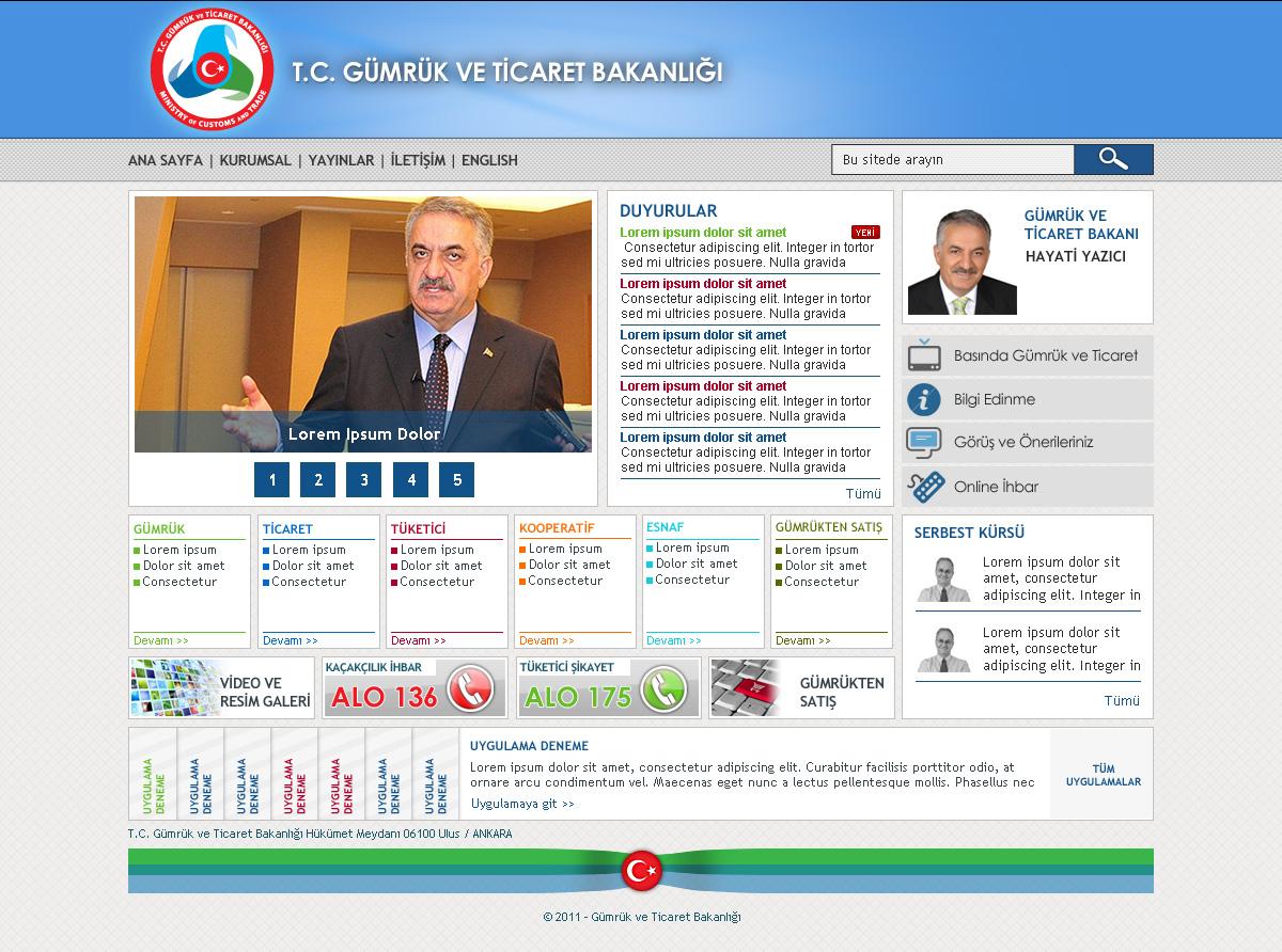 Gümrük ve Ticaret Bakanlığı Web Site, SharePoint