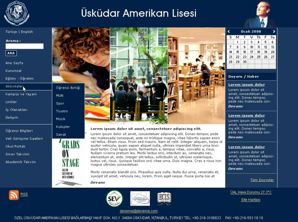 Uskudar-Amerikan-Lisesi-Web-Sitesi
